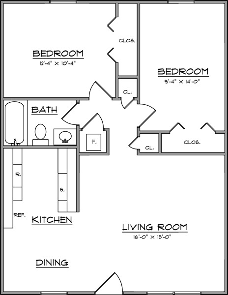 Average Square Footage Of 2 Bedroom Apartment Nrtradiant Com